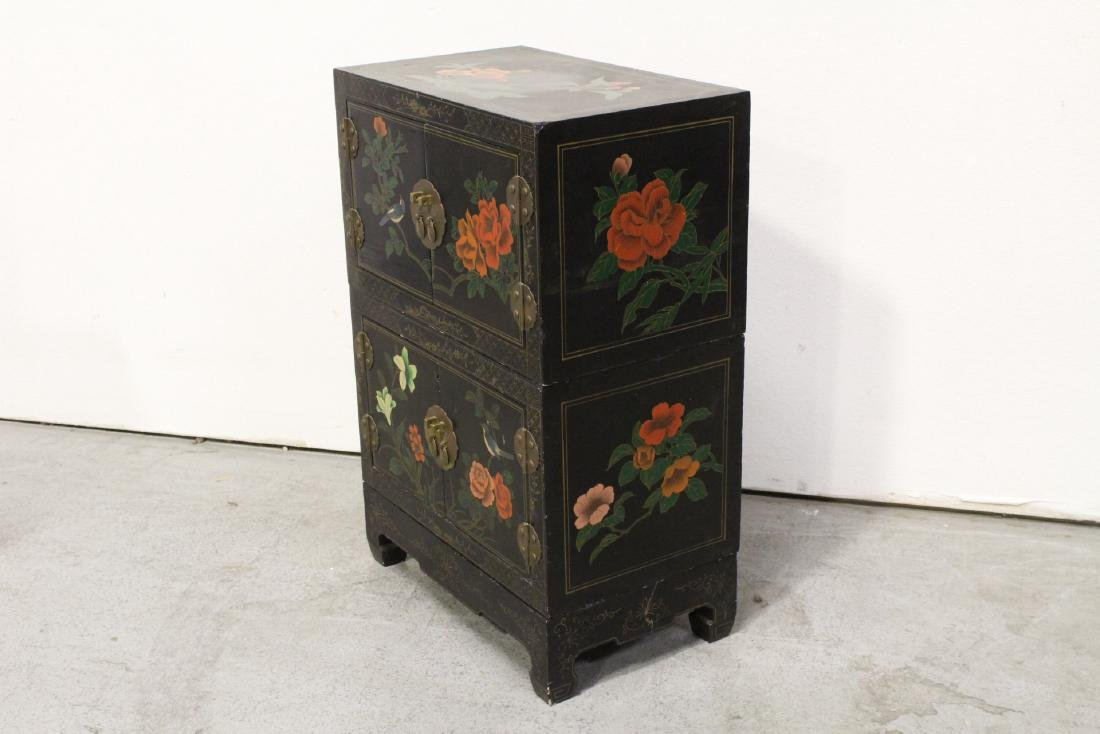 2 miniature lacquer cabinet with stand - 7