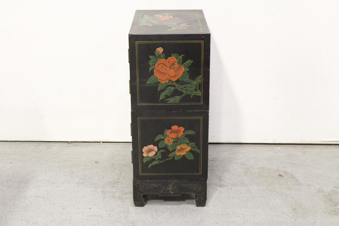 2 miniature lacquer cabinet with stand - 8