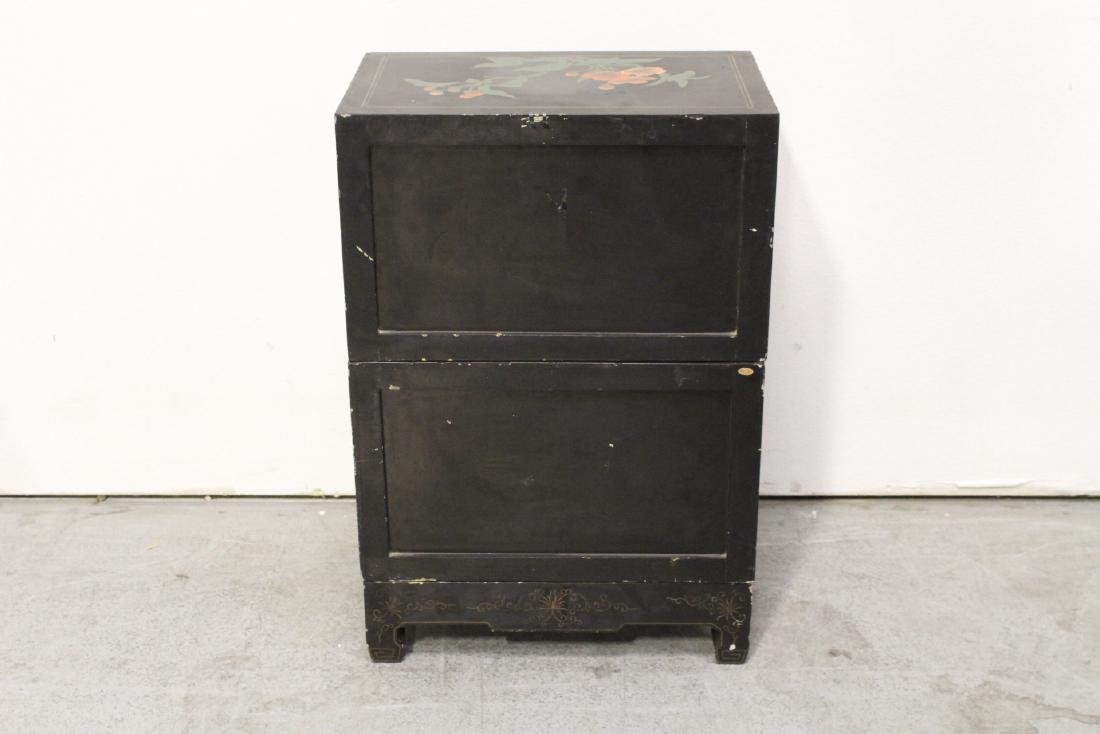 2 miniature lacquer cabinet with stand - 9