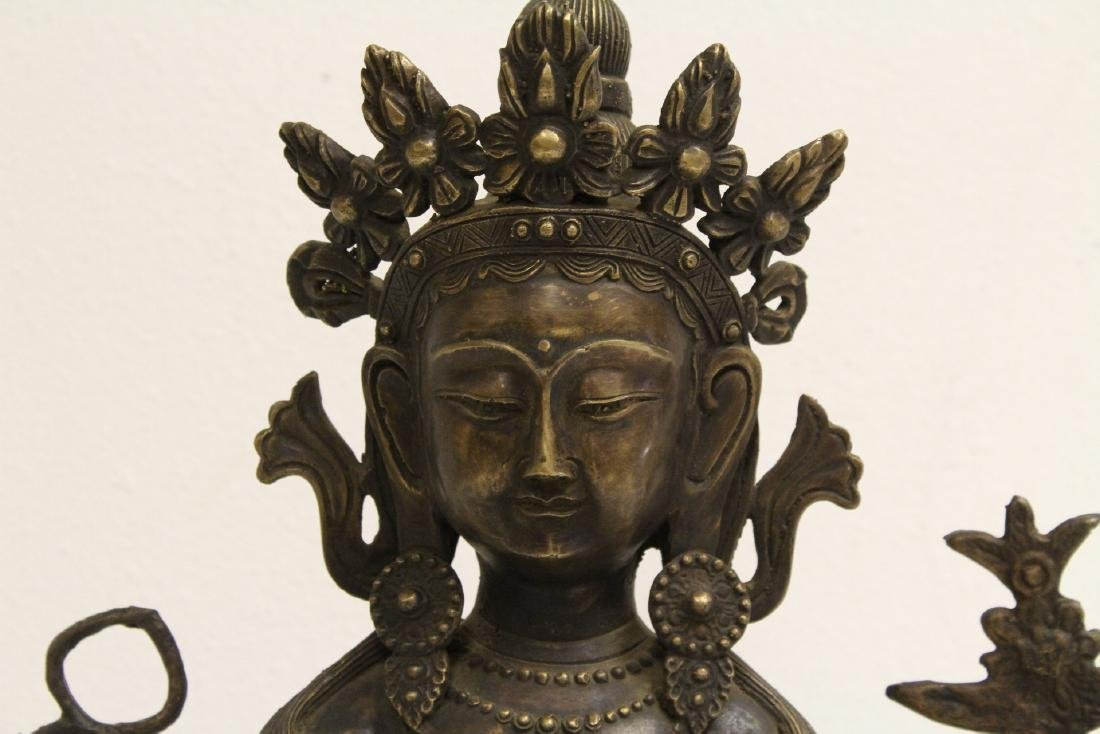 A large Chinese bronze sculpture - 5