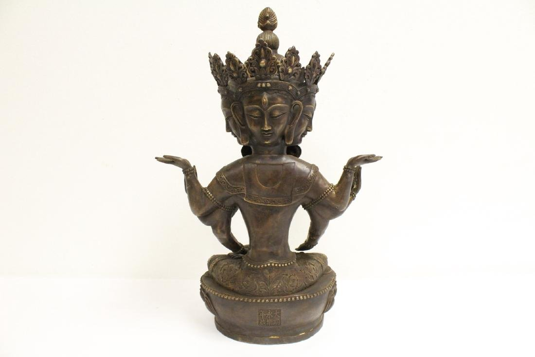 A large Chinese bronze sculpture - 6