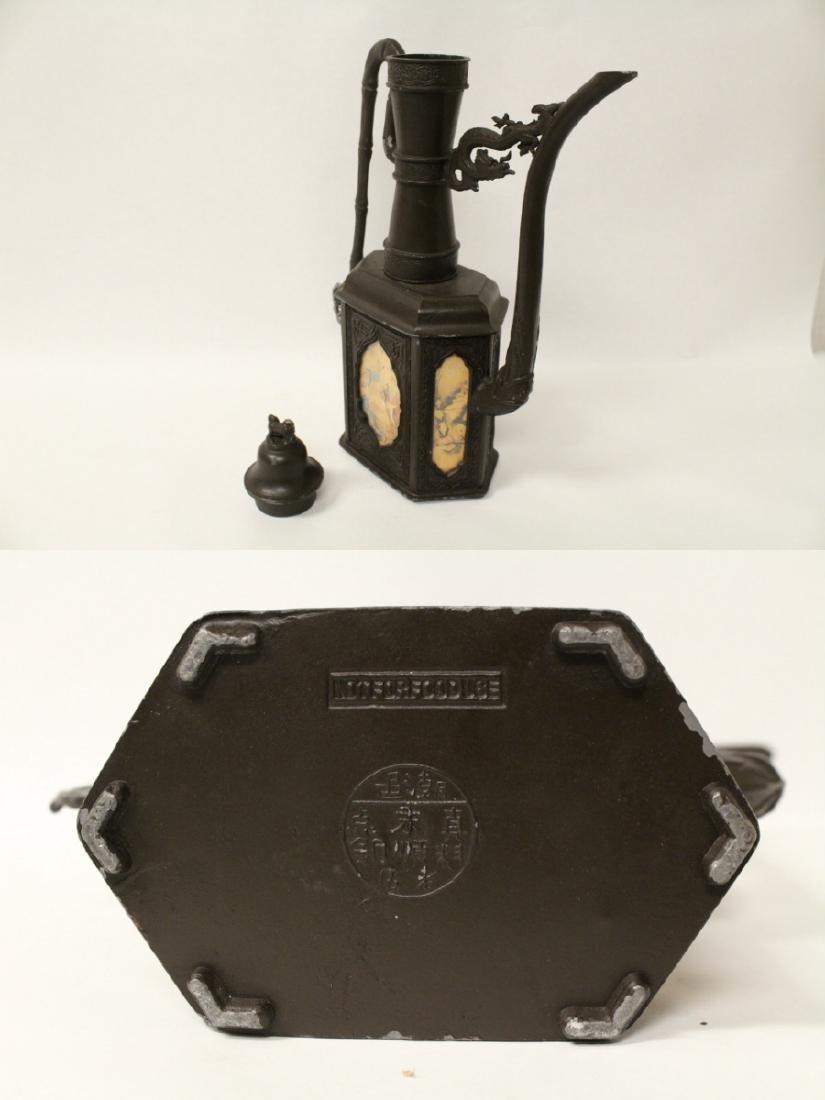 A pewter teapot - 10