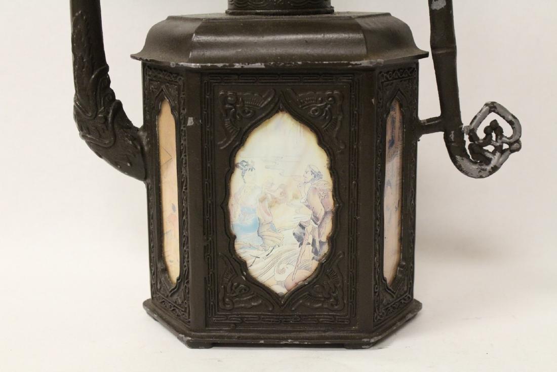 A pewter teapot - 3