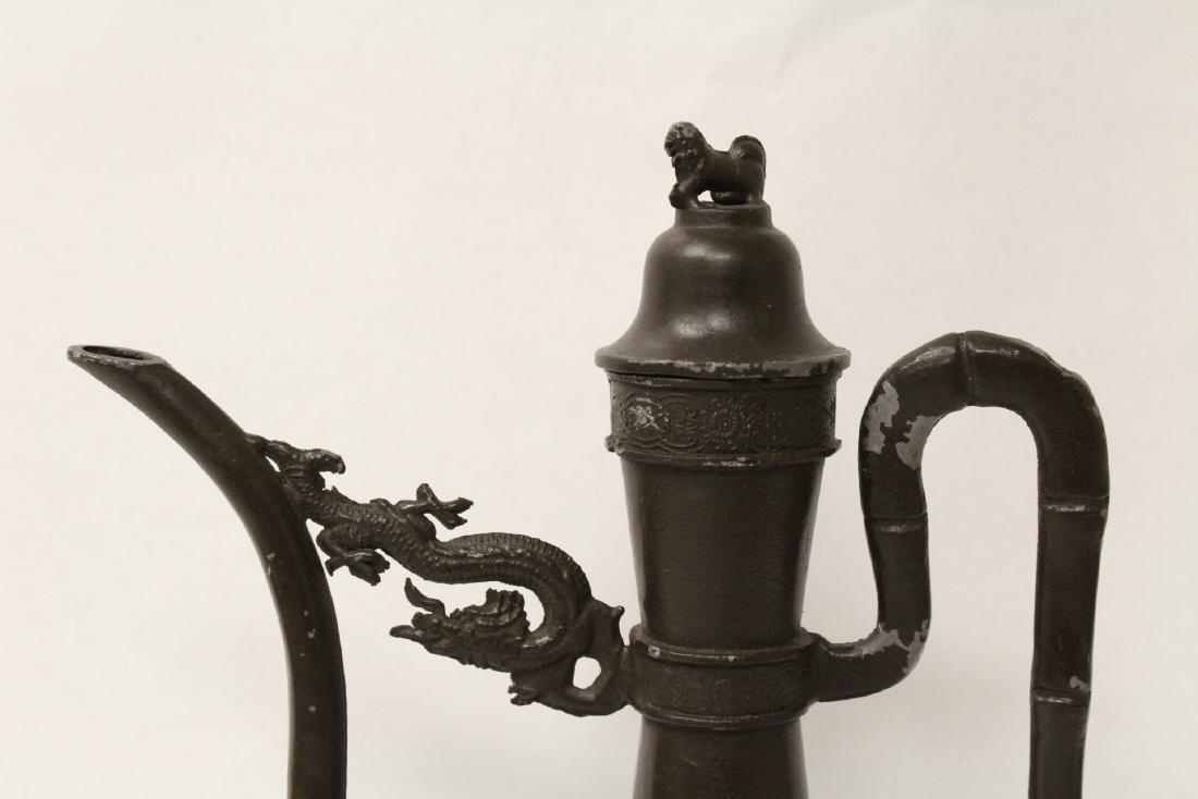 A pewter teapot - 5