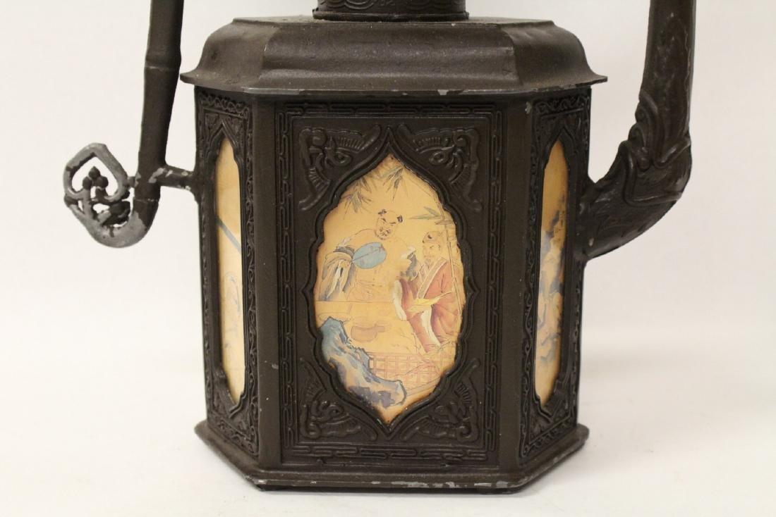 A pewter teapot - 7