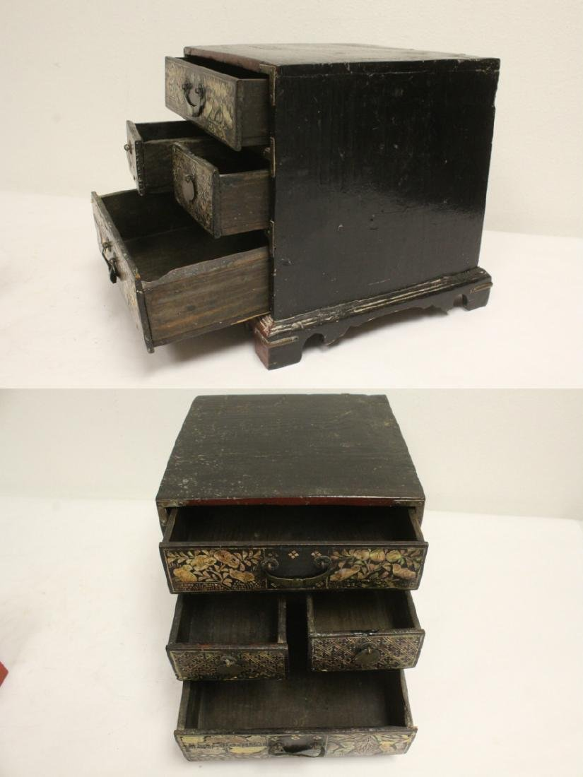 2 lacquer boxes, & a jewelry box w/ MOP - 3