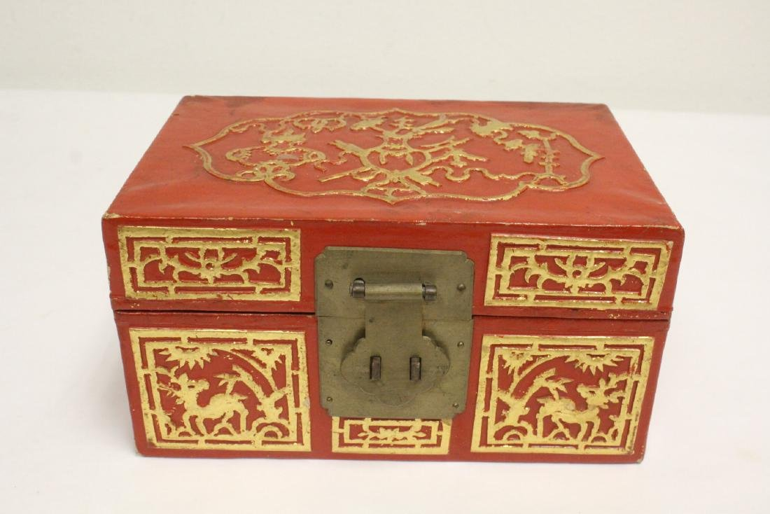 2 lacquer boxes, & a jewelry box w/ MOP - 5