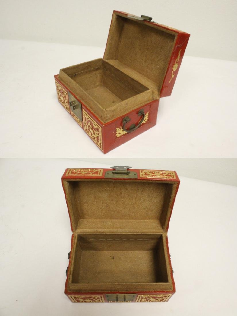 2 lacquer boxes, & a jewelry box w/ MOP - 6