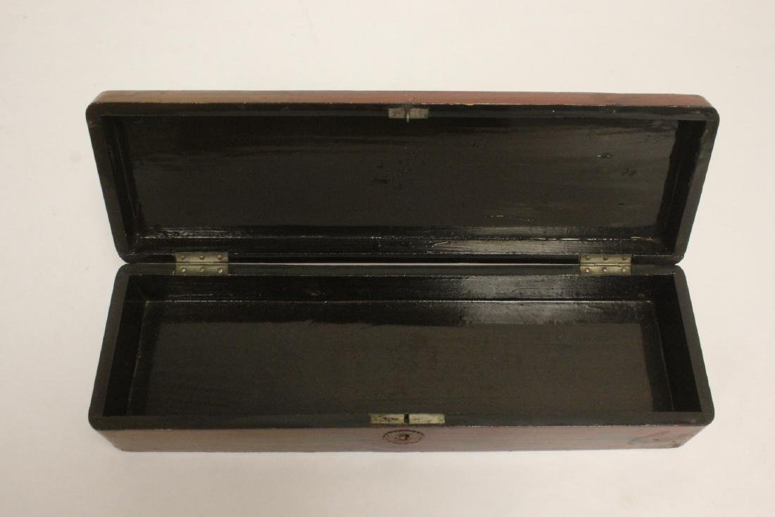 2 lacquer boxes, & a jewelry box w/ MOP - 8