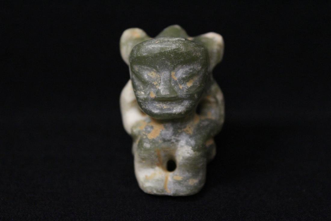 2 jade carved ornaments in figure motif - 2