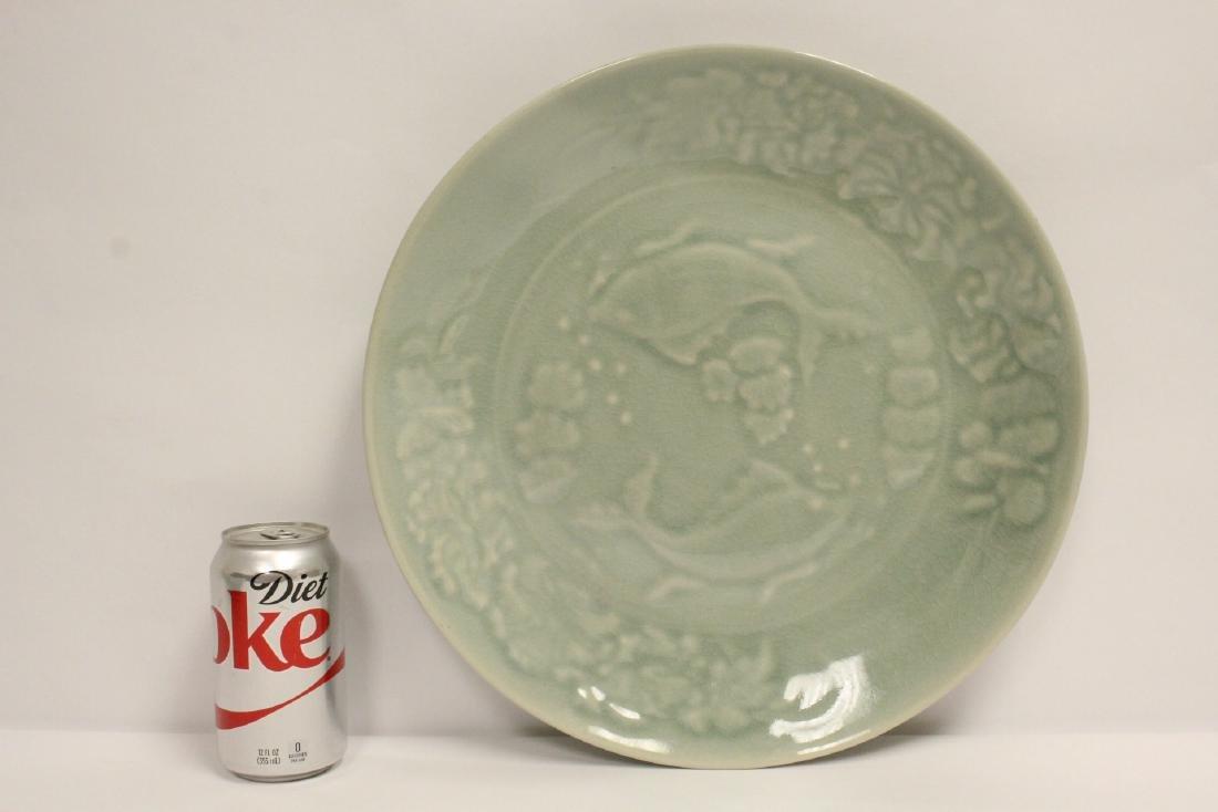 Large celadon platter - 2