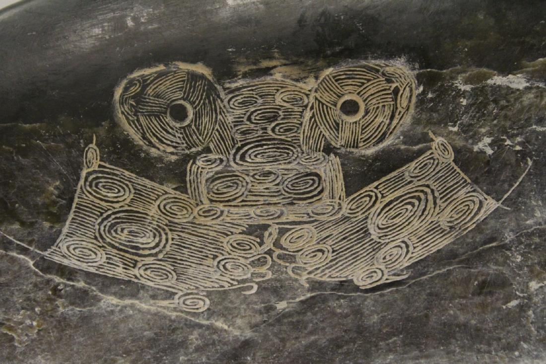 Chinese jade like stone carved fish - 7