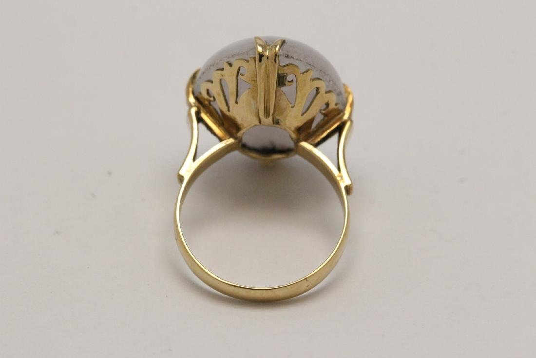 14K Y/G lavender jadeite ring - 8