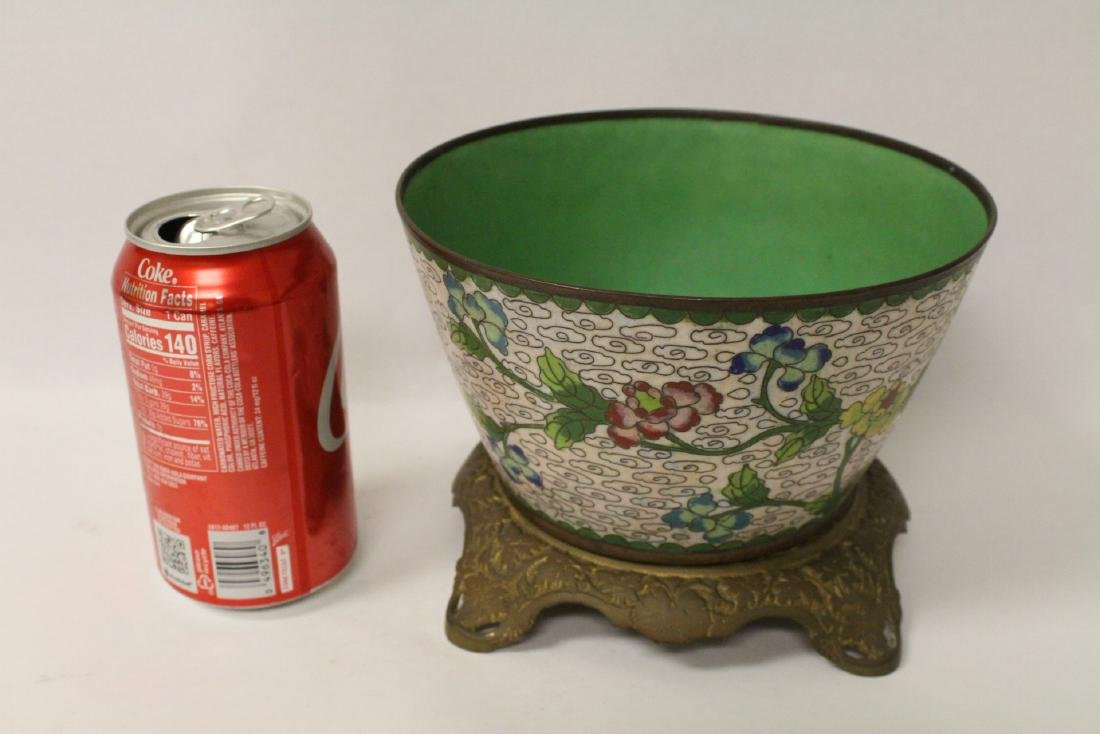 A cloisonne bowl decorated with jewels - 2