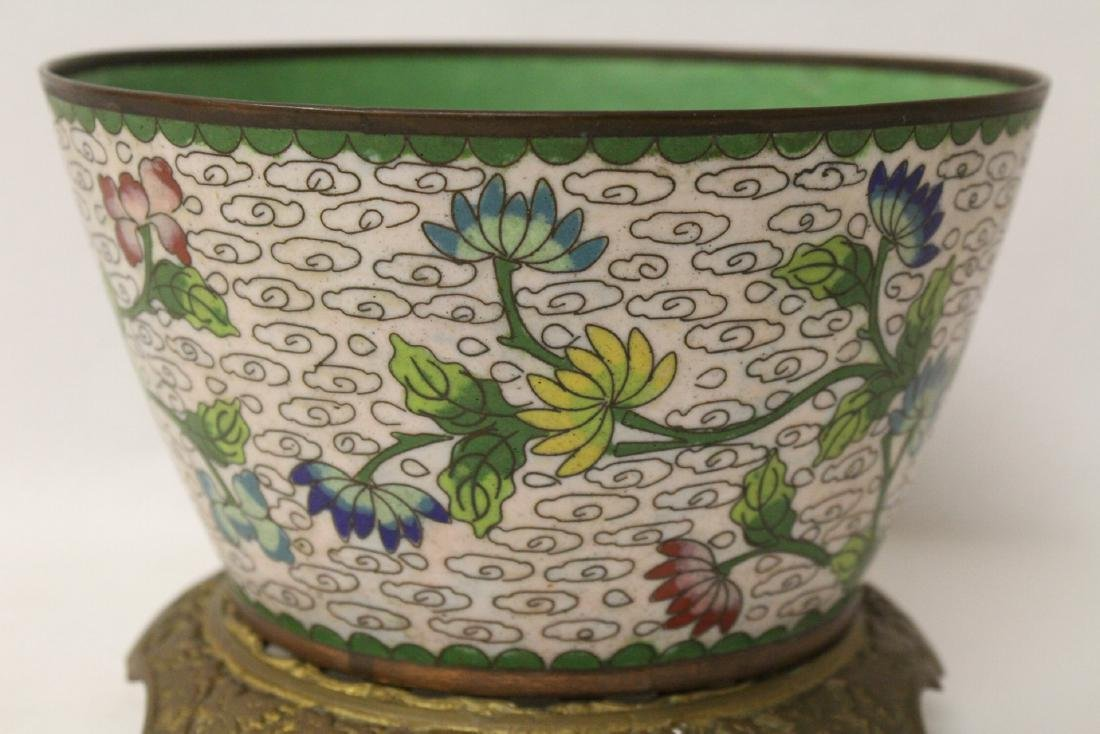 A cloisonne bowl decorated with jewels - 7