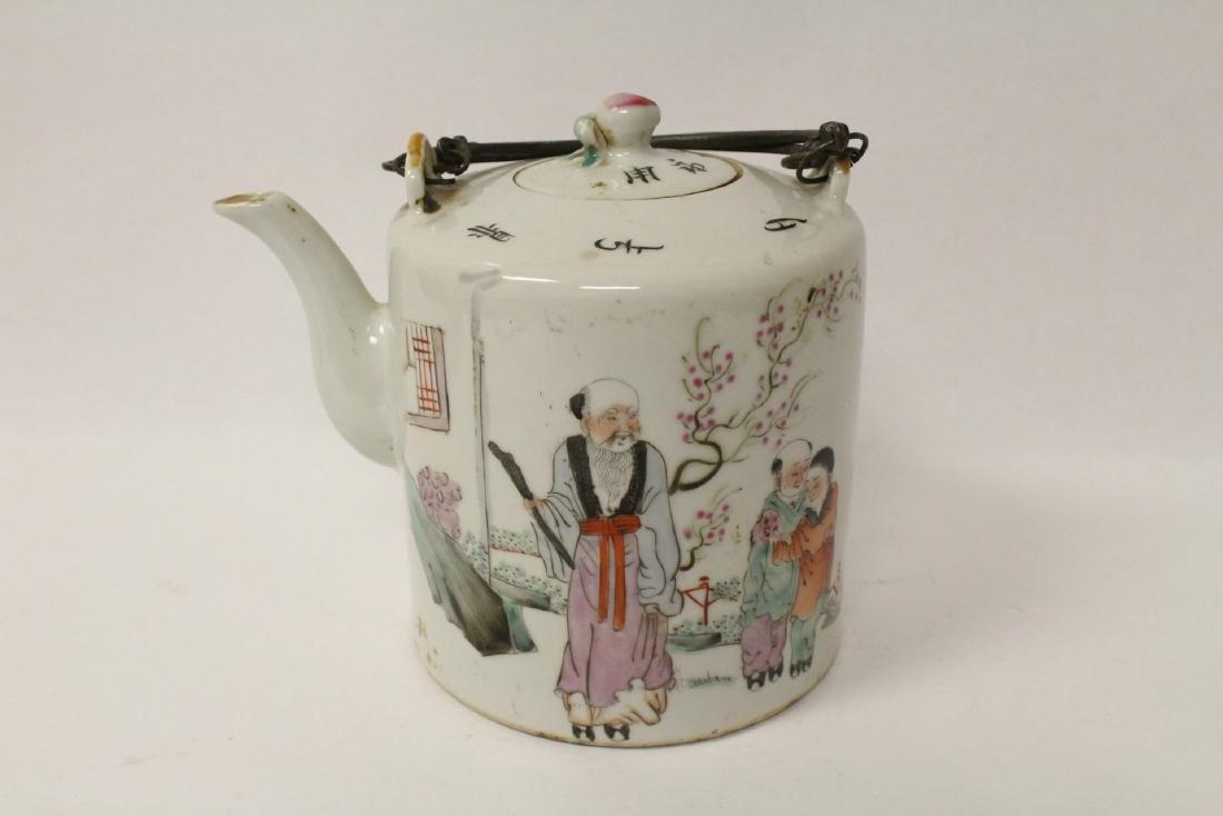 Antique famille rose teapot