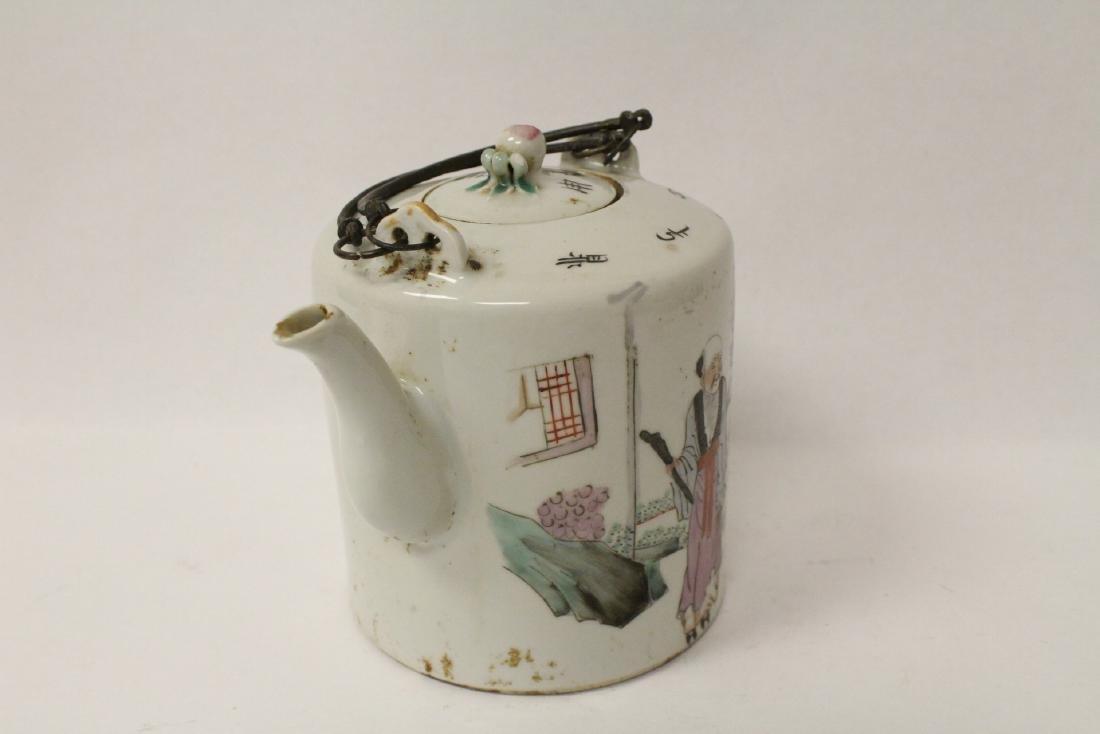 Antique famille rose teapot - 2