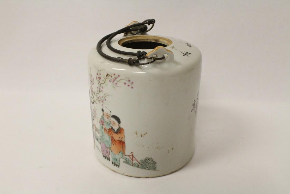 Antique famille rose teapot - 5