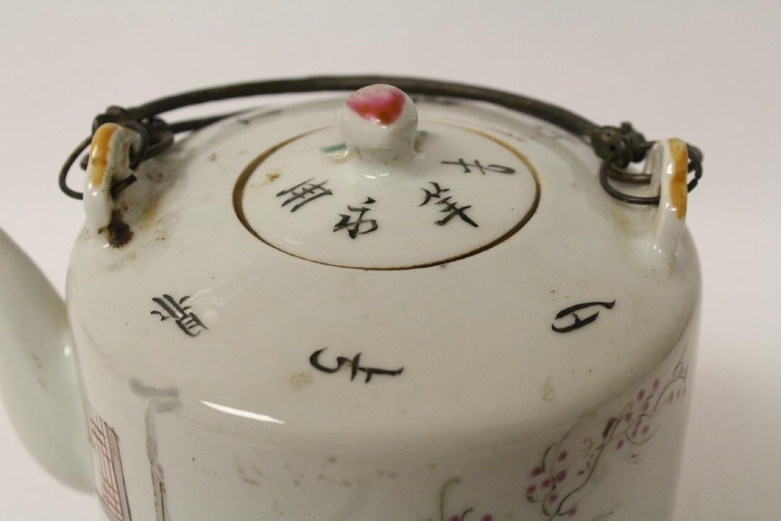 Antique famille rose teapot - 6