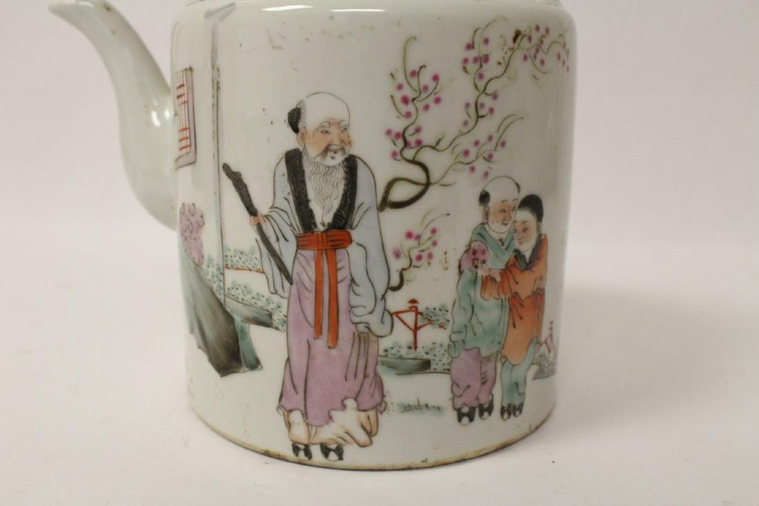 Antique famille rose teapot - 7