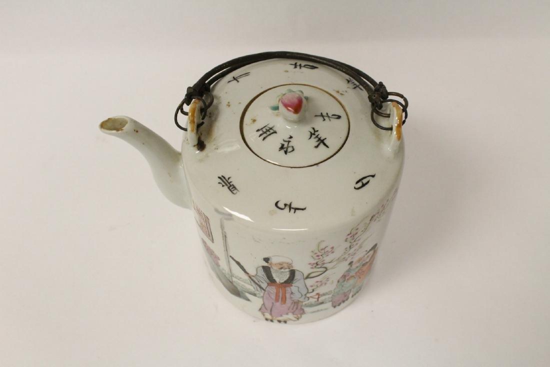 Antique famille rose teapot - 8