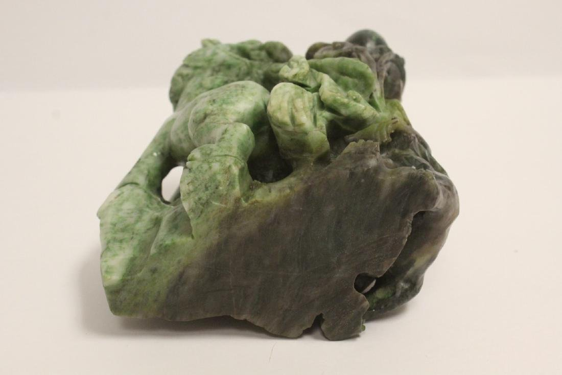 Jade carved qilin - 10