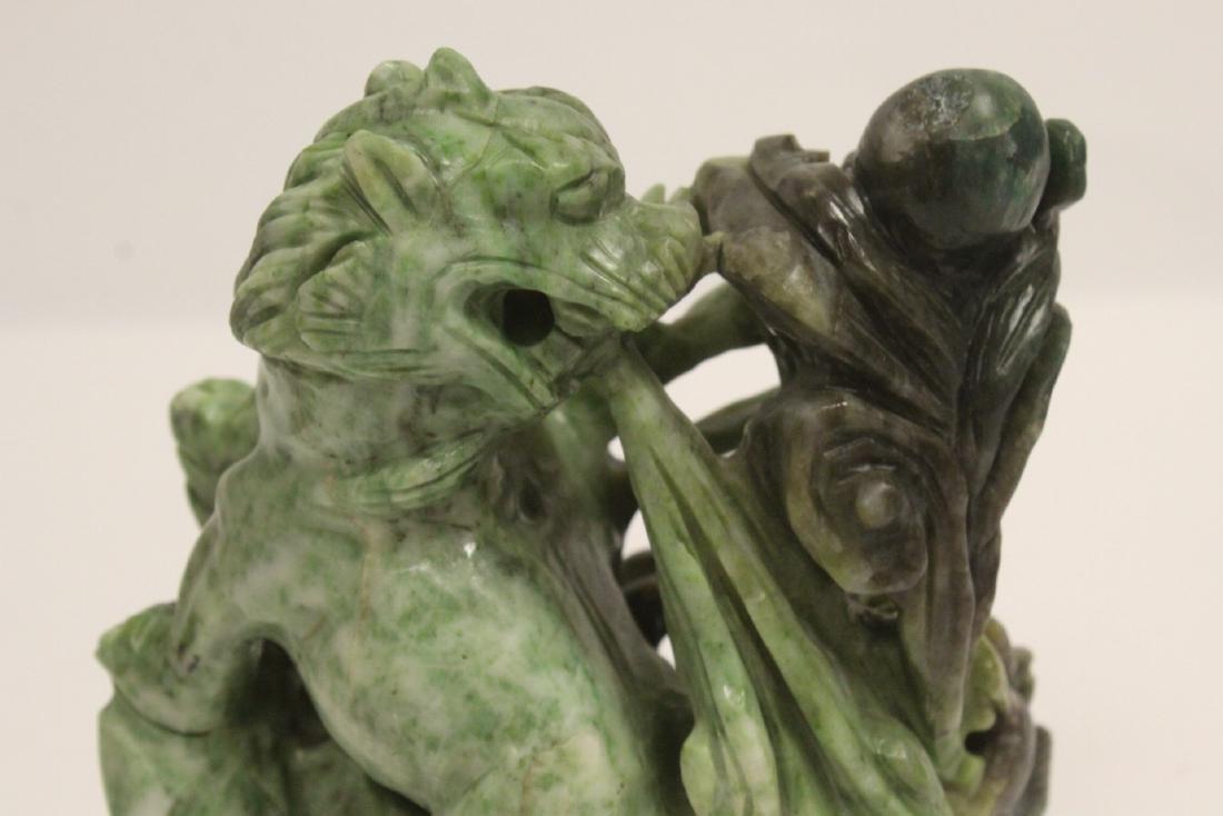 Jade carved qilin - 8