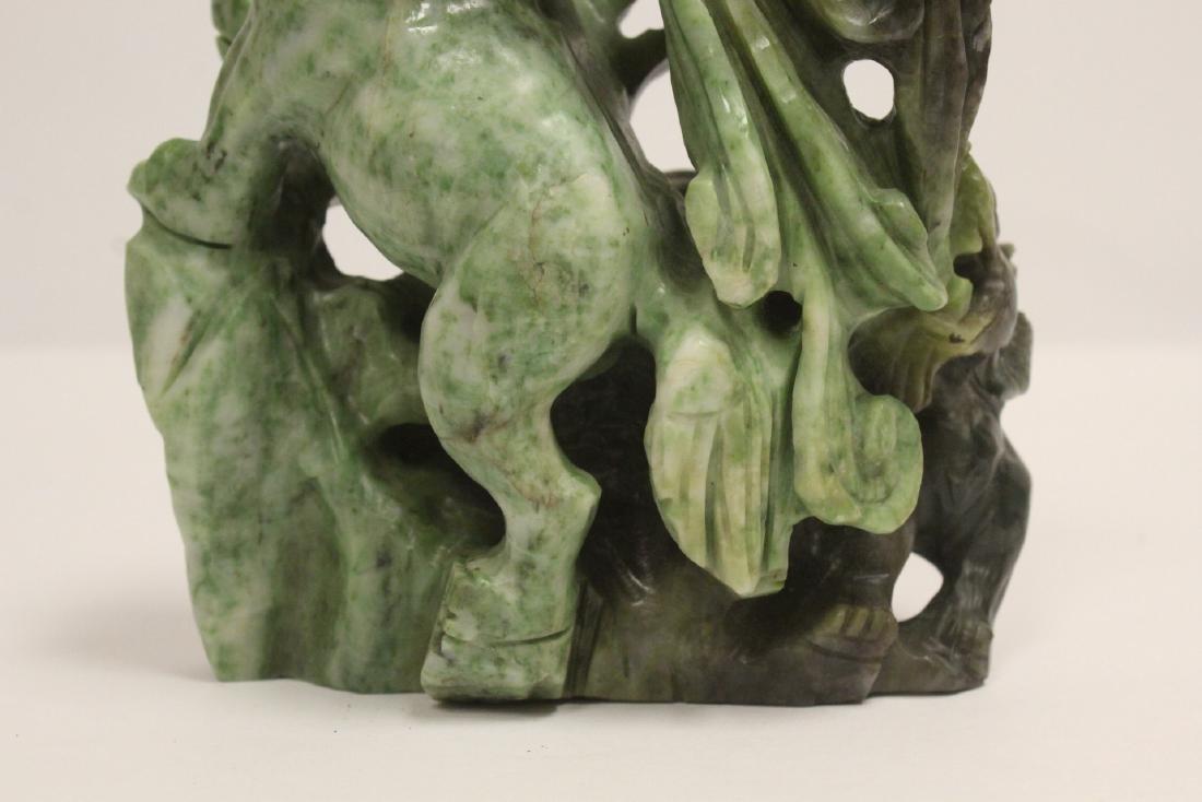 Jade carved qilin - 9