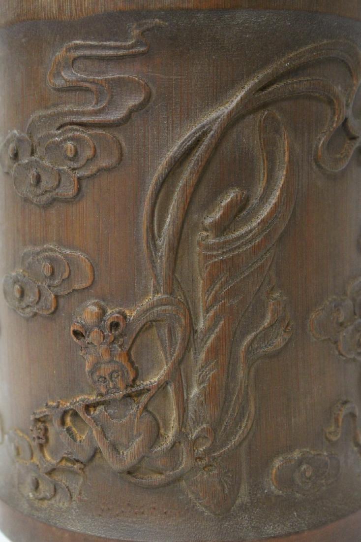 Bamboo carved brush holder - 6