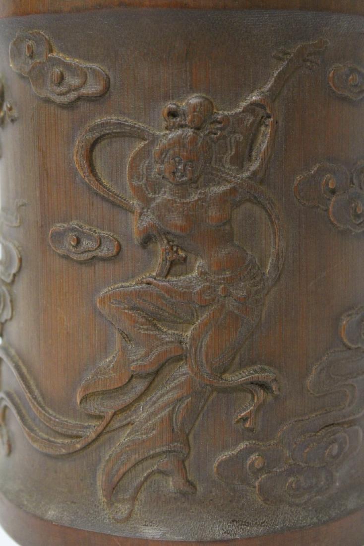 Bamboo carved brush holder - 7