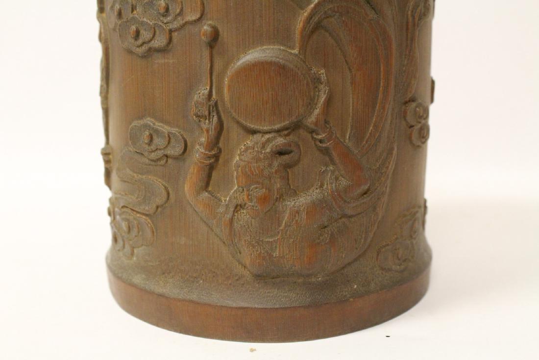 Bamboo carved brush holder - 9
