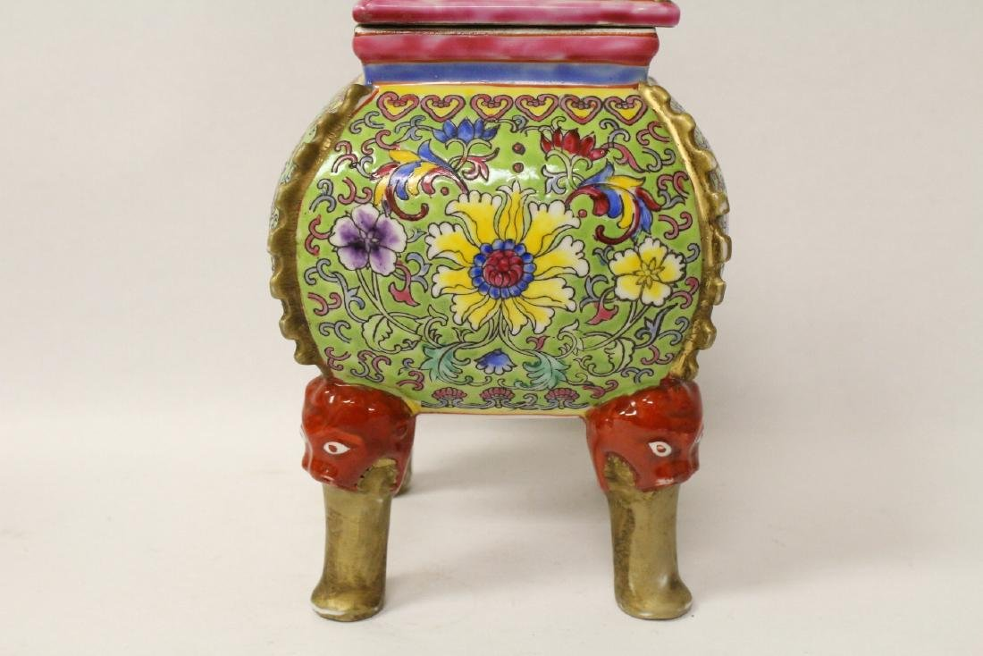 Pair beautiful famille rose porcelain censers - 5