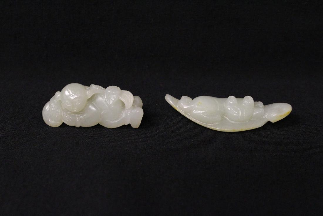 2 white jade ornaments