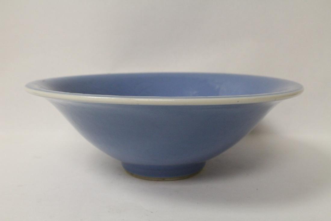 Chinese large blue glazed porcelain bowl - 6