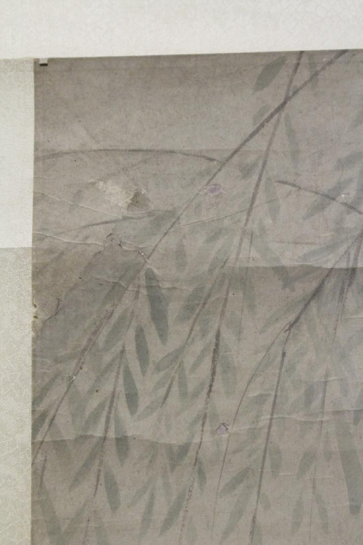 Chinese watercolor scroll depicting yuan yang - 10