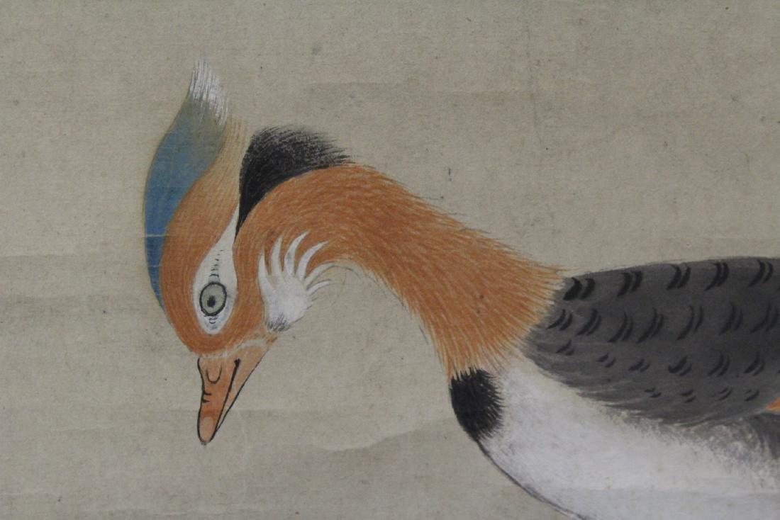 Chinese watercolor scroll depicting yuan yang - 7