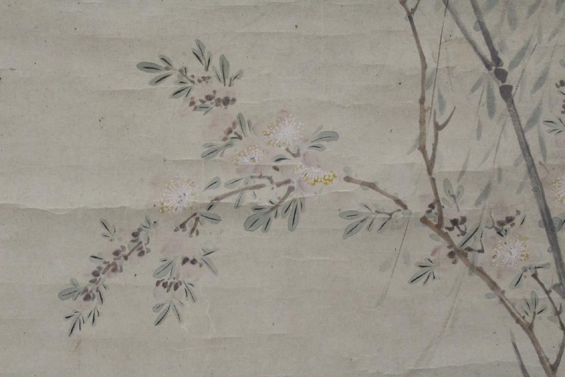 Chinese watercolor scroll depicting yuan yang - 9