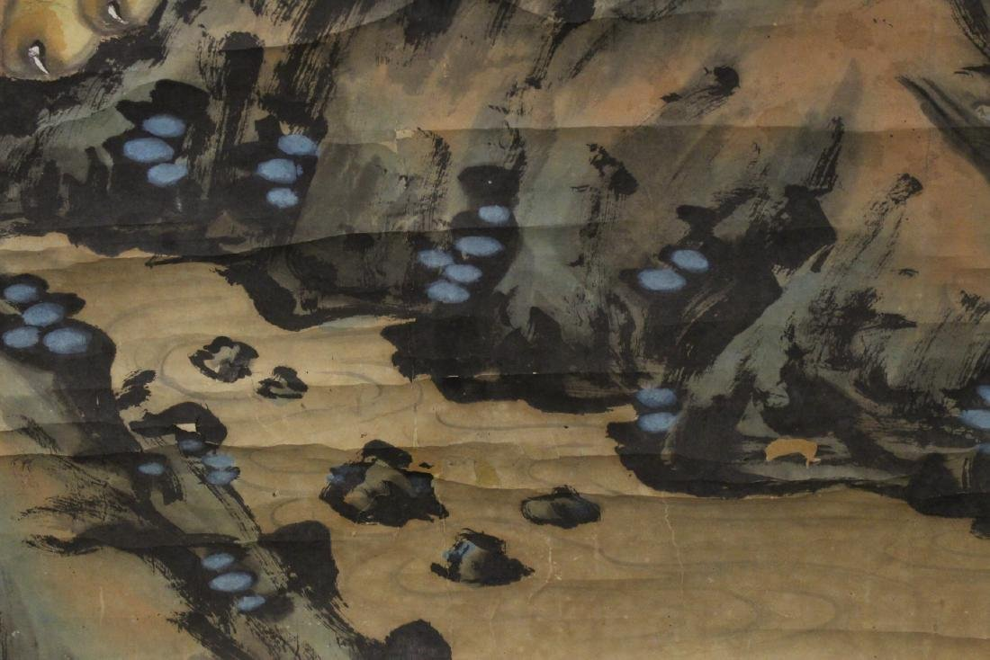 Chinese watercolor scroll depicting tigers - 10