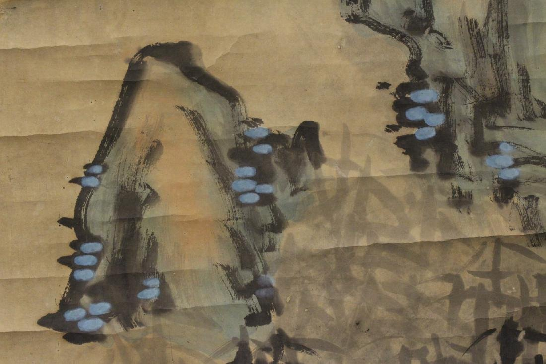 Chinese watercolor scroll depicting tigers - 9