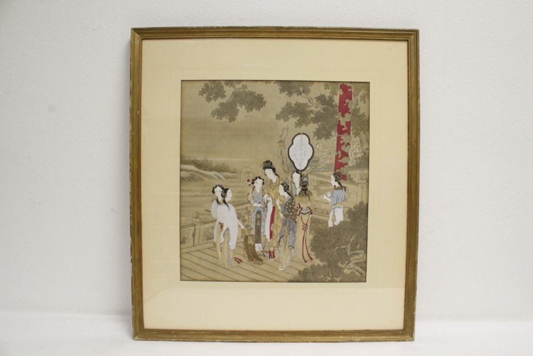 2 Chinese framed watercolor paintings - 2