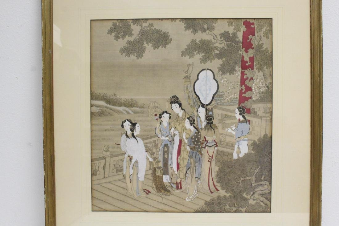 2 Chinese framed watercolor paintings - 3