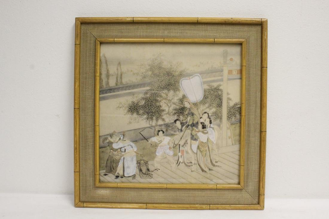 2 Chinese framed watercolor paintings - 6
