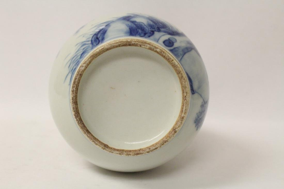 Chinese vintage blue and white porcelain vase - 8