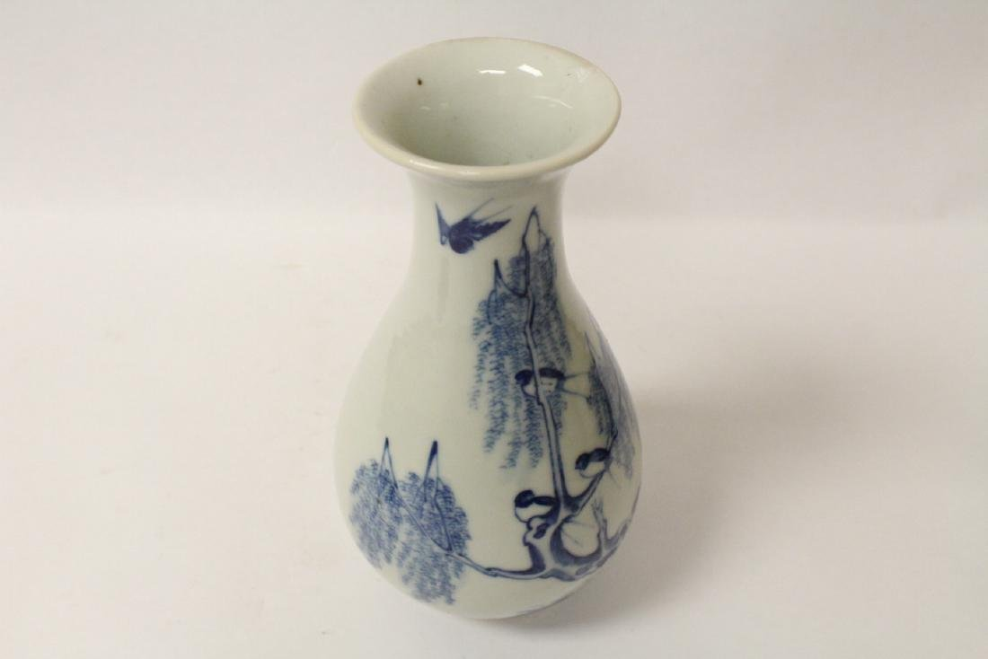 Chinese vintage blue and white porcelain vase - 9