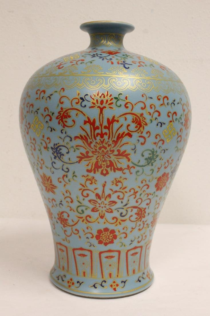 Chinese famille rose porcelain meiping - 2