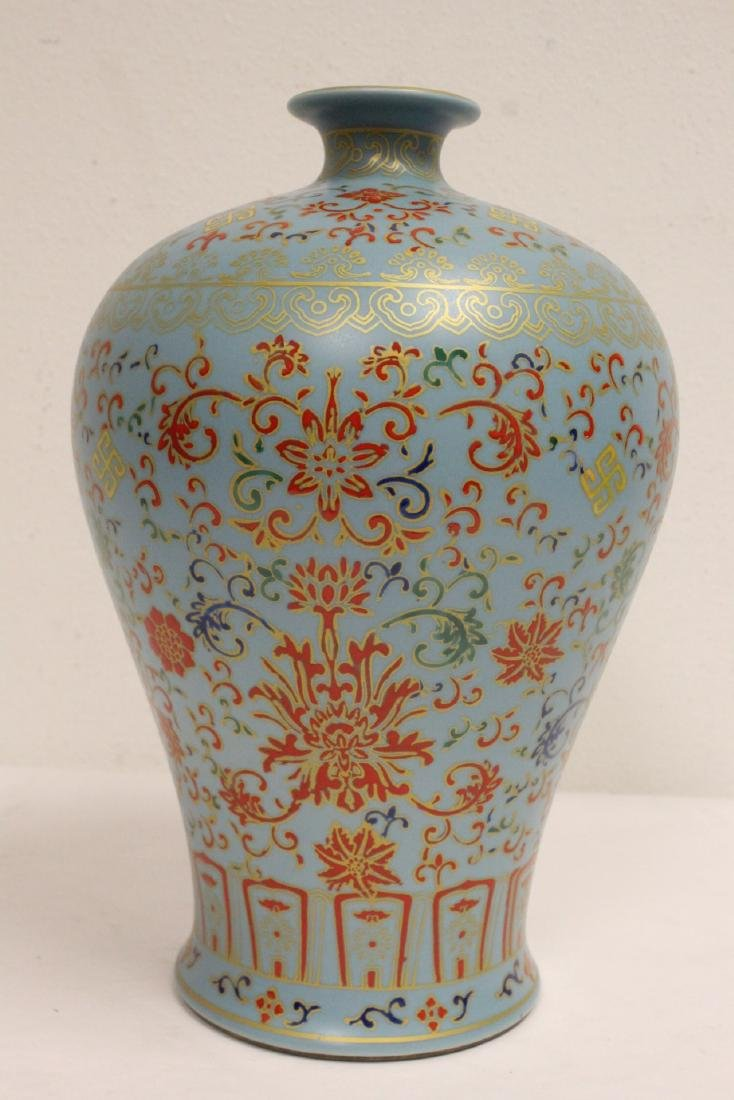 Chinese famille rose porcelain meiping - 3