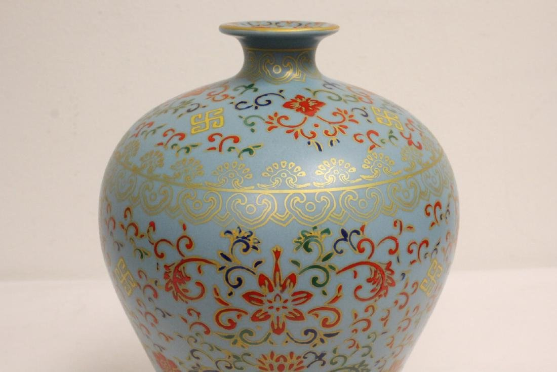 Chinese famille rose porcelain meiping - 6
