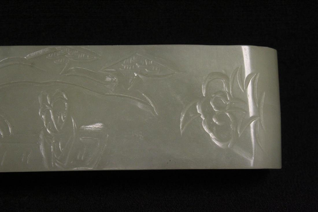Chinese celadon jade carved table ornament - 8