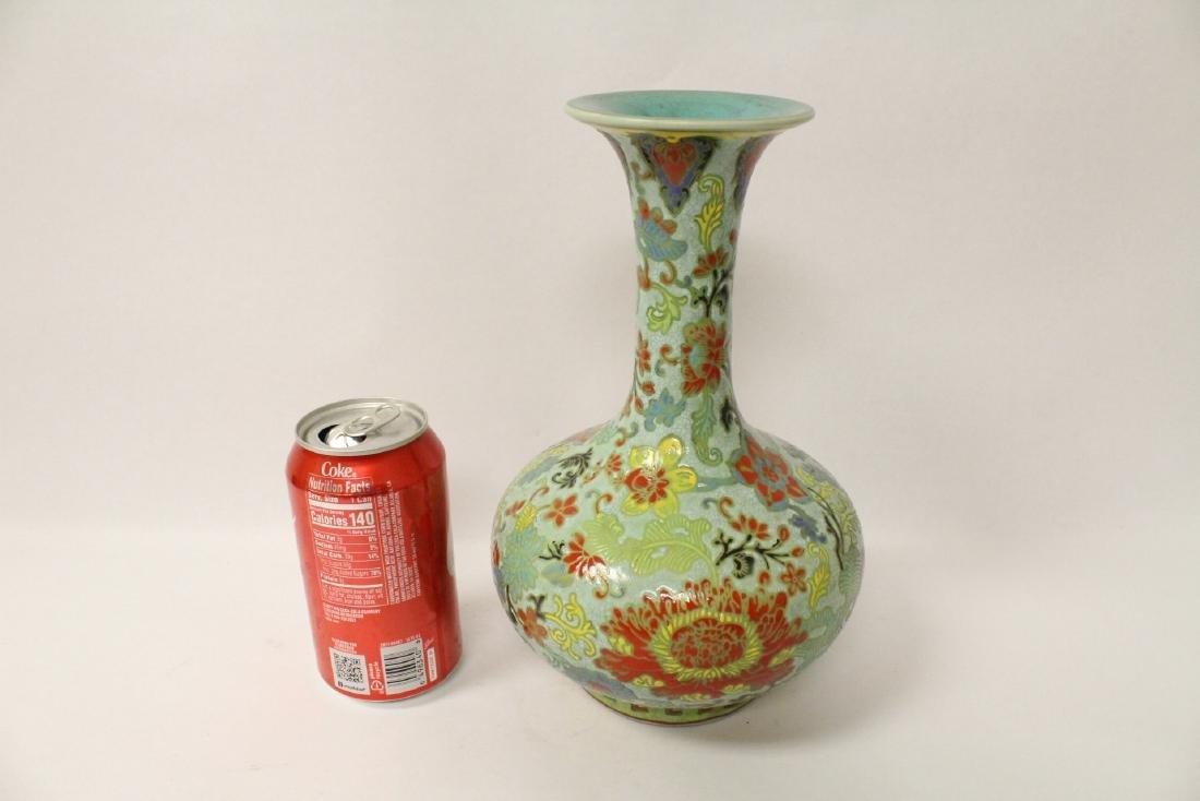 Chinese famille rose porcelain bottle vase - 2