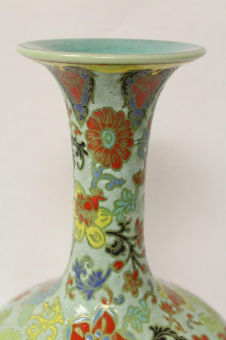 Chinese famille rose porcelain bottle vase - 5
